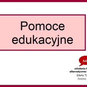 Pomoce edukacyjne