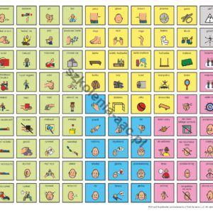 Tablica komunikacyjna- integracja sensoryczna bez listew