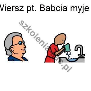 babcia myje