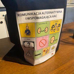 """Torba symbole PCS """"Ja komunikuje się z osobami, które nie mówią, a jaka jest Twoja moc"""" szkolenia-aac.pl"""