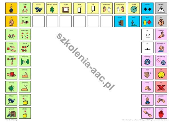 Podkładka komunikacyjna- puzzle