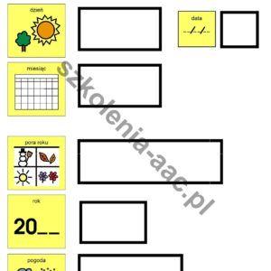 Tablica Kalendarz PCS