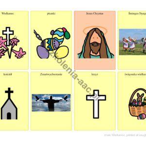 8 znaków graficznych Pcs- Wielkanoc.
